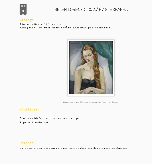 Contando en portugués, gracias a la traducción de José Eduardo Lopes.